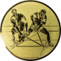 Emblem 25mm 2 Hockeyspieler, gold