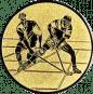 Emblem 25mm 2 Hokeyspieler, gold
