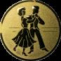 Emblem 25mm 2 Tänzer, gold