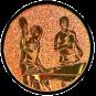 Emblem 25mm 2Tischtennisspieler, bronze