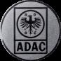 Emblem 25mm ADAC, silber
