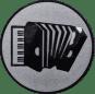 Emblem 25mm Akkordeon, silber