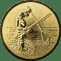 Emblem 25mm Angler m. Angel u. Kescher 3D, gold