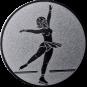 Emblem 25mm Eiskunstläuferin, silber