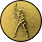 Emblem 25mm Baseball Spielerin, gold