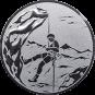 Emblem 25mm Bergsteiger, silber
