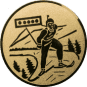 Emblem 25mm Biathlon, gold