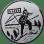 Emblem 25mm Biathlon, silber