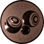 Emblem 25mm Boccia, bronze
