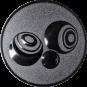 Emblem 25mm Boccia, silber