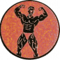 Emblem 25mm Bodybuilding mänl., bronze