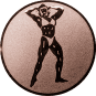 Emblem 25mm Bodybuilding weibl., bronze