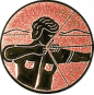 Emblem 25mm Bogenschütze rechts, bronze schießen