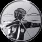 Emblem 25mm Bogenschütze rechts, silber schießen