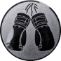Emblem 25mm Boxhandschuhe, silber