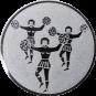 Emblem 25mm Cheerleader, silber