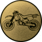 Emblem 25mm Motocross, gold