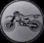 Emblem 25mm Crossbike, silber