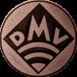 Emblem 25mm DMV, bronze
