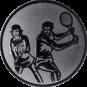 Emblem 25mm Doppel Mix, silber