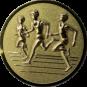 Emblem 25mm Drei Laeufer, gold 3D