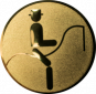 Emblem 25mm Dressurreiter Symbol, gold