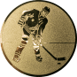 Emblem 25mm Eishockeyspieler, gold