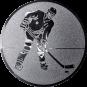 Emblem 25mm Eishockeyspieler, silber