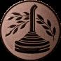 Emblem 25mm Eisstockschießen 2, bronze