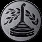 Emblem 25mm Eisstockschießen 2, silber