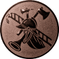 Emblem 25mm Feuerwehrhelm, bronze