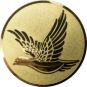 Emblem 25mm fliegende Taube, gold
