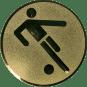 Emblem 25mm Fußballer Symbol, gold