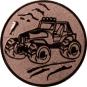 Emblem 25mm Gelände-Buggy, bronze