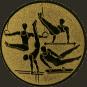 Emblem 25mm Geräteturner, gold