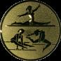 Emblem 25mm Geräteturnerin, gold
