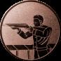 Emblem 25mm Gewehrschütze links, bronze schießen
