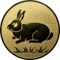 Emblem 25mm Hase, gold