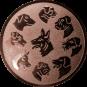 Emblem 25mm Hunderassen, bronze