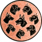 Emblem 50mm Hunderassen, bronze