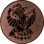 Emblem 25mm Karnevalsprinz, bronze