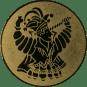 Emblem 25mm Karnevalsprinz, gold