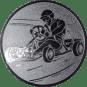 Emblem 25mm Kartfahrer 1, silber