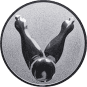 Emblem 25mm Kegel 2, silber