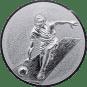 Emblem 25mm Kegeln 3D, silber