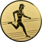 Emblem 25mm Laeuferin, gold