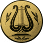 Emblem 25mm LYRA, gold