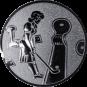 Emblem 25mm Minigolf weibl., silber