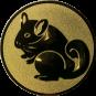 Emblem 25mm Nager, gold