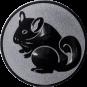 Emblem 25mm Nager, silber